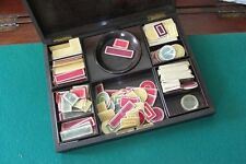 ANCIENNE BOITE A JEUX JETONS NAPOLEON III XIX EME ANTIQUE GAMING GAME BOX