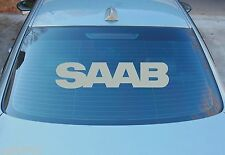 SAAB LARGE REAR WINDOW STICKER GRAPHICS 580mm x 130mm CHOICE OF COLOURS
