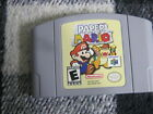 PAPER MARIO NINTENDO 64 2001 GAME CART ONLY FAST SHIPPING