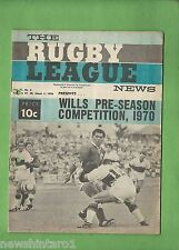 #QQ. THE RUGBY LEAGUE NEWS, 27-28th February- 1st March 1970, Newtown Cover