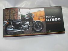 Suzuki GT550 owners manual 1975 GT5505
