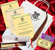 Harry Potter Writing Set For Hogwarts Spells - Quill, box, bag + MORE