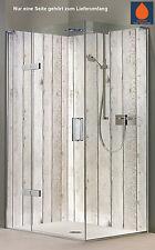 Rückwand Dusche Alu-Dibond Duschrückwand Fliesenspiegel Fliesen, Holzoptik weiß