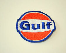 Vintage Gulf Oil & Gas Co. Racing Cloth Car Jacket Sign Logo Patch New NOS 1960s