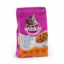 WHISKAS STERILE Cat Kitty Dry Food for Neutered Cats 300g 10.5oz bag