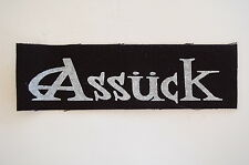 "Assuck Cloth Patch Sew On Badge Punk Rock Misery Index Nausea Approx 6""X2"" (CP98"