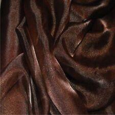 Marrón oscuro cristal Organza Cortina Vestido De Novia Tela 150cm Ancho Libre p+p
