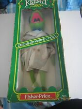 THE MUPPETS  KERMIT THE FROG  DRESS UP DOLL FISHER-PRICE JIM HENSON
