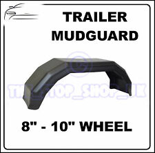 "Black Plastic 8-10"" Wheel Mudguard for Trailer x1 (Small)"