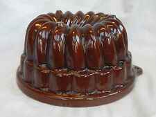 LARGE Vintage West German Scheurich Ceramic Bundt Ring / Jelly / Mousse Mould