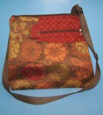 MARUCA Orange Green Brown Floral Jaquard WORKER BEE Sling Crossbody Handbag NEW