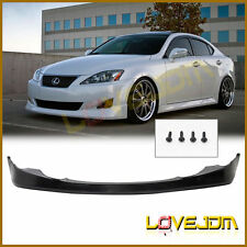 Fit 06 07 08 Lexus IS250 IS350 Sedan 4DR PU Black Front Bumper Lip VIP Style