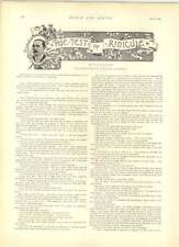 1891 Election Orator W Rainey If I May Be Allowed To Ask A Question Engraving