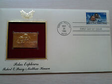-Polar Explorers----22Kt Golden Replica of United States Stamps