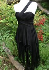 new $139 blondie nites black asymmetrical fairy prom gown cocktail  DRESS 1 xs