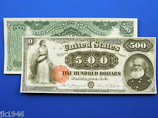 Replica $500 1880 Legal Tender Note US Paper Money Currency Copy