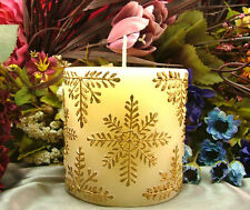 Cylinder Snowflakes Silicone Candle Mold Decoration Handmade Soap Making Tools