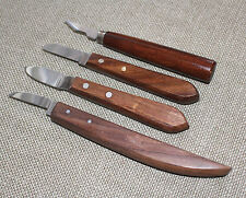 SET OF 4 WOOD CARVING KNIVES WHITTLIN KNIFE FOLK ART HOBBY & CRAFTS