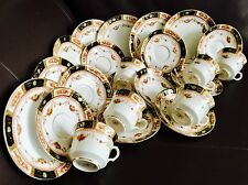 Rare Antique Reid's Park Place China 23 Piece Gold Gilded Imari Pattern Tea Set