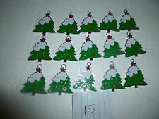Wholesale Lot of 15 Christmas Tree Charms - New Without Tags