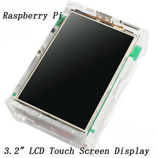 "3.2"" TFT LCD LED Touch Screen Monitor Set With Case & Heatsinks For Raspberry Pi"