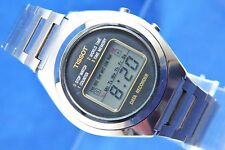 Vintage Tissot Quartz LCD Digital World Timer Data Recorder Watch Circa 1970s