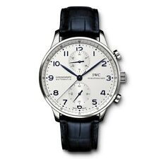 IWC Portuguese Automatic Chronograph Silver Dial Steel 41mm Mens Watch IW371446