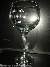 Personalised Bombay style Gin Glasses - 620ml - Gift Boxed