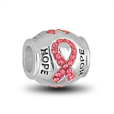 DaVinci Beads Charm - BREAST CANCER RIBBON - Buy 2 or More DaVinci and Save!