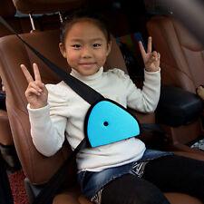 Car Child Safety Cover Shoulder Harness Strap Adjuster Kids Seat Belt Clip Blue#