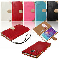 Bling ID Card Wallet Diamond Purse Crocodile Flip Leather Cover Case For Phone