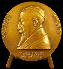 Medaille à François Anatole Thibault dit Anatole France Delannoy écrivain medal