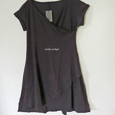 BORIS INDUSTRIES  Wickel Kleid mit Überwurf Lagenlook Baumwolle schwarz 46 (4)
