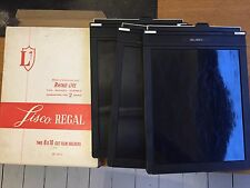 3 8x10 films holders Lisco Regal II - 3 chassis 20x25