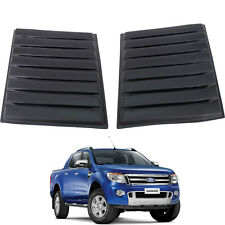2012+ Ford Ranger T6 MATTE Black Bonnet Vent Cover Hood Scoop Cap ABS 3M Type