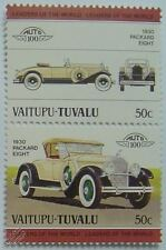 1930 PACKARD EIGHT 8 Car Stamps (Leaders of the World / Auto 100)