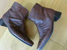 Ladies Rieker Soft Brown Leather Ankle Boots SIZE 4 /37