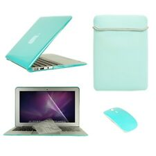 "5in1 Hot BLUE Crystal Case fr Macbook Air 11"" A1370 and A1465 +Key+LCD+Bag+Mouse"