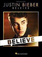 Justin Bieber Believe Piano Vocal Guitar Book NEW! $18.05 Retail Value Free Ship