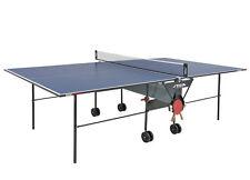 Stiga Tischtennisplatte  Indoor Basic Roller  Blau mit Netz nicht für Outdoor