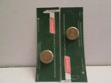 Two Coleman Lantern and Stove One-Piece Brass Fuel / Filler Caps Free Shipping