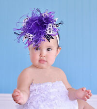hot SELL Baby Feather Pad headband Bow flower hair band FASCINATOR Accessorie hu