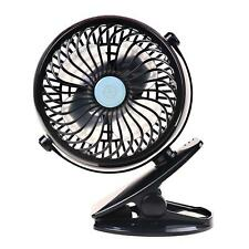 Portable Clip Fan Rechargeable Battery USB for Baby Stroller Car Camping Desk