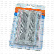 New Mini Solderless Breadboard Transparent Material 400 Points Available DIY