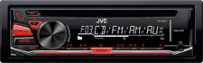 New JVC KD-R370 Single DIN In-Dash CD/AM/FM/ Receiver w/Detachable and Aux Input