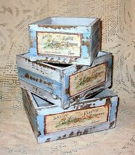 French Country Flower Market Weathered Wood Soap Box Crate~MEDIUM~Shabby Cottage