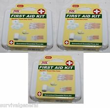 (3) Mini Personal Compact First Aid Kit Emergency Bag Home Car Outdoor Hard Case