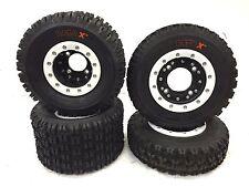 Hiper CF1 Beadlock Rims Maxxis Razr XM Tires Front/Rear Kit Honda TRX 450R 400EX
