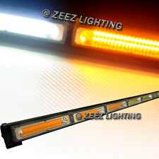 Amber&White 60W COB LED Traffic Advisor Emergency Strobe Warning Light Bar C93