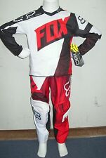 FOX KIDS COMBO MOTOCROSS PANTS & JERSEY #5 Vandal NEW RED PEEWEE Youth BMX